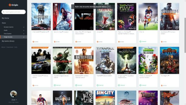 EA Origin Access Games