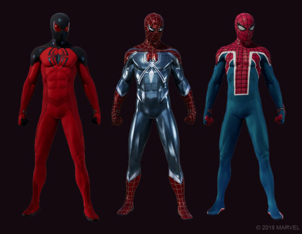 Marvels-Spider-Man-The-Heist-Suits