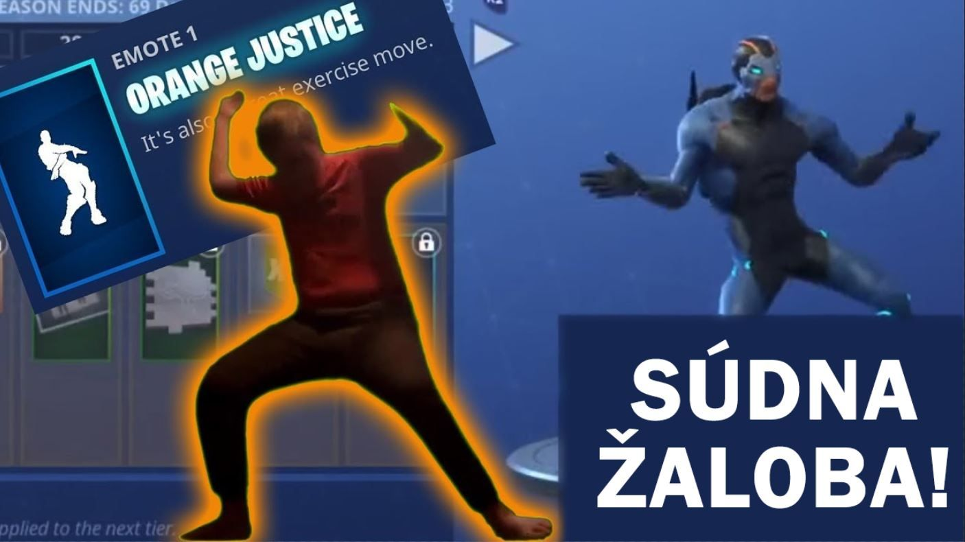 Fortnite Žaloba Orange Kid Dance