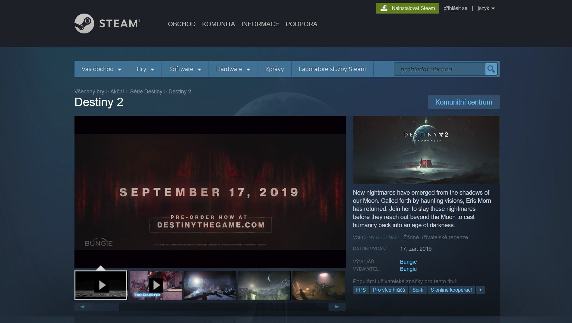 Destiny 2 PC Steam