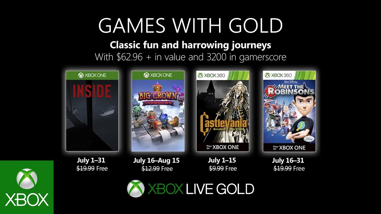 Games With Gold Jul 2019
