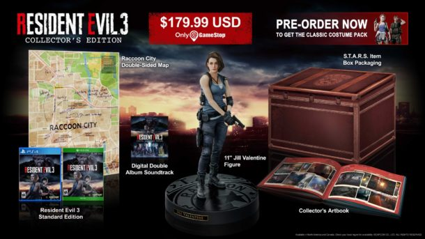 Resident Evil 3 Remake collectors edition