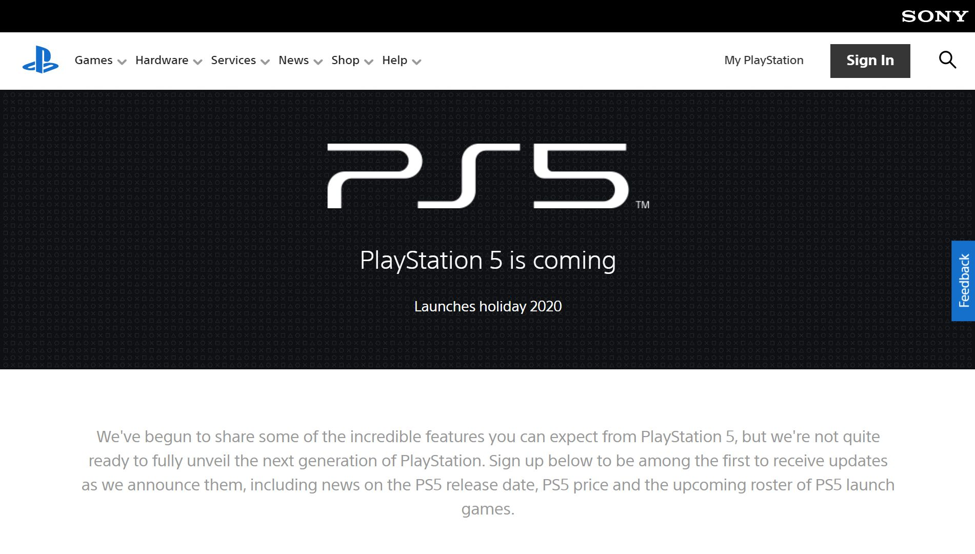 PlayStation 5 Official Website