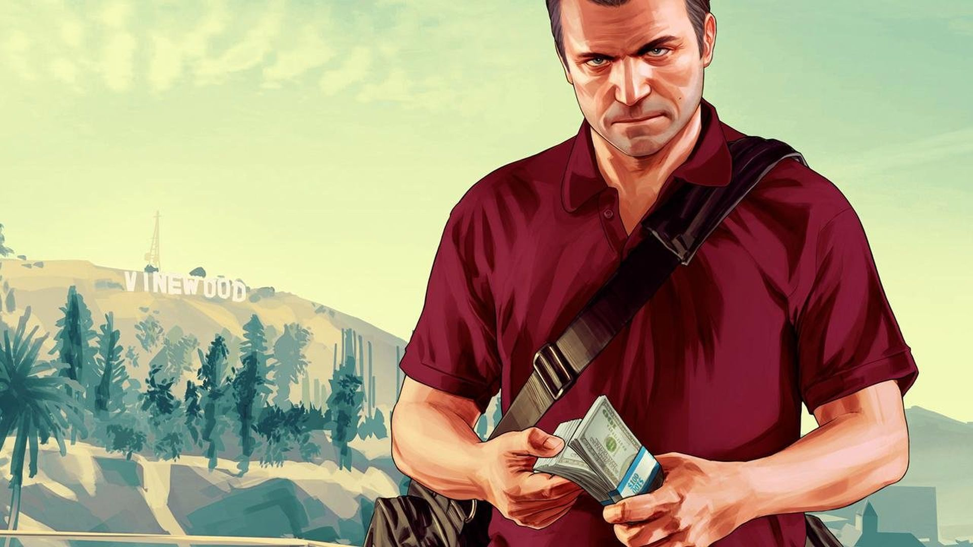 GTA V Michael counting money