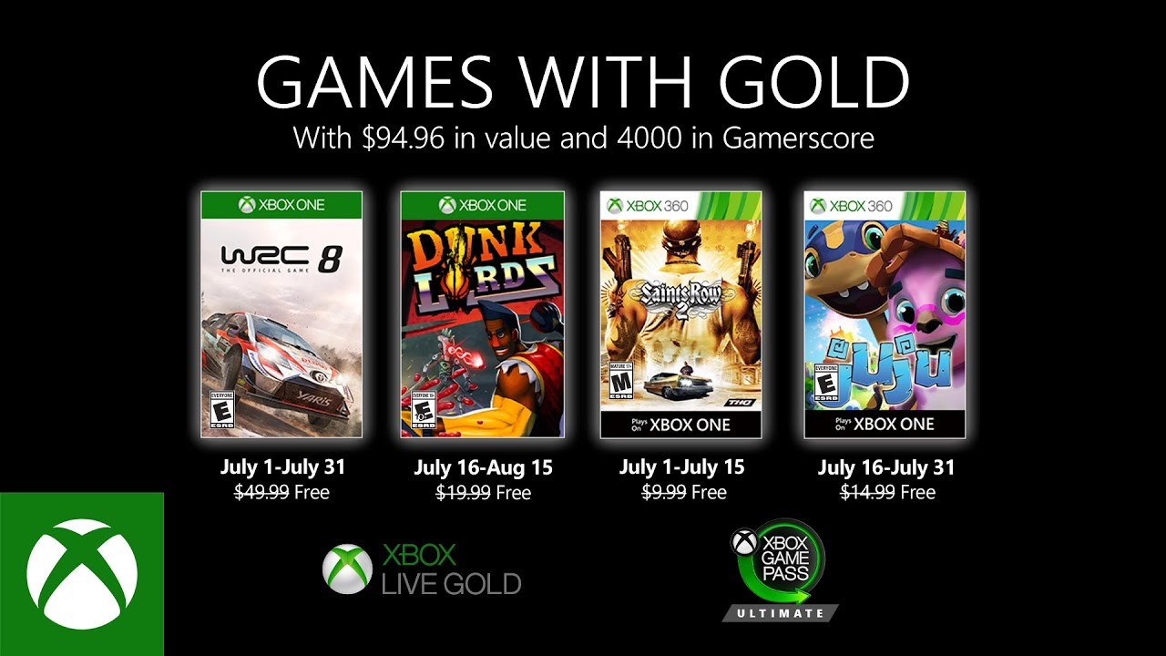 Games With Gold Júl 2020