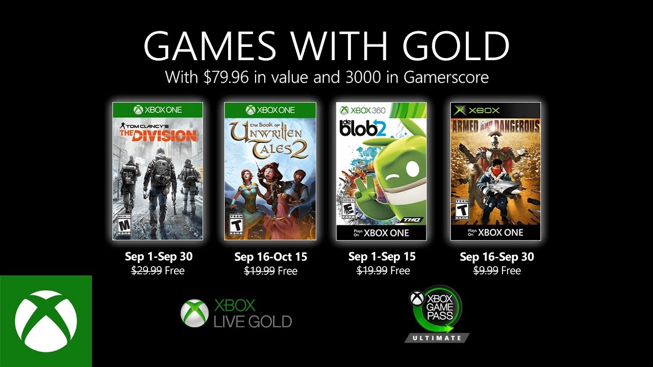 Games With Gold na September 2020