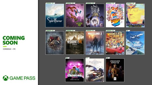 Xbox Game Pass New Games August 2020