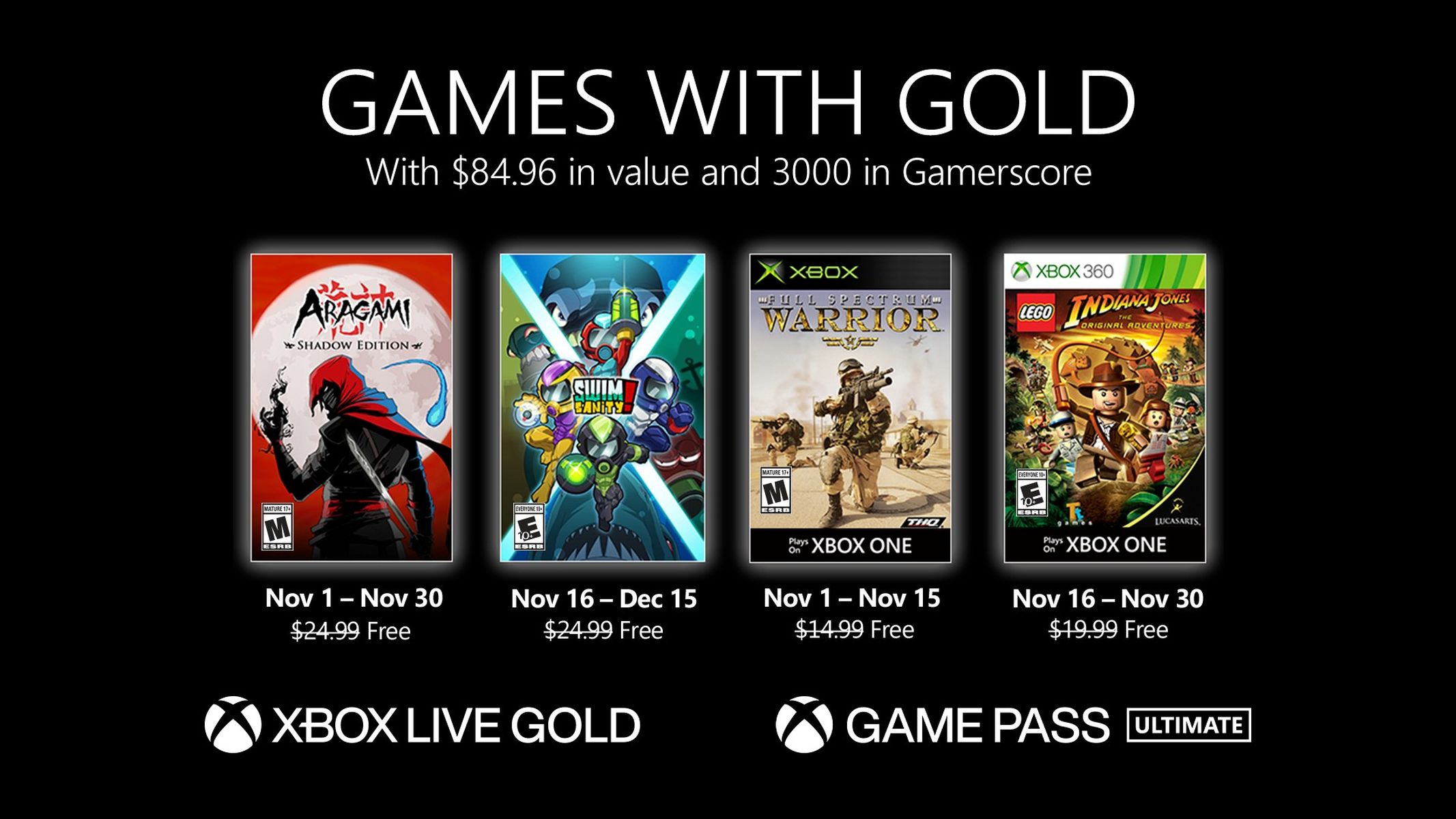 Games With Gold November 2020