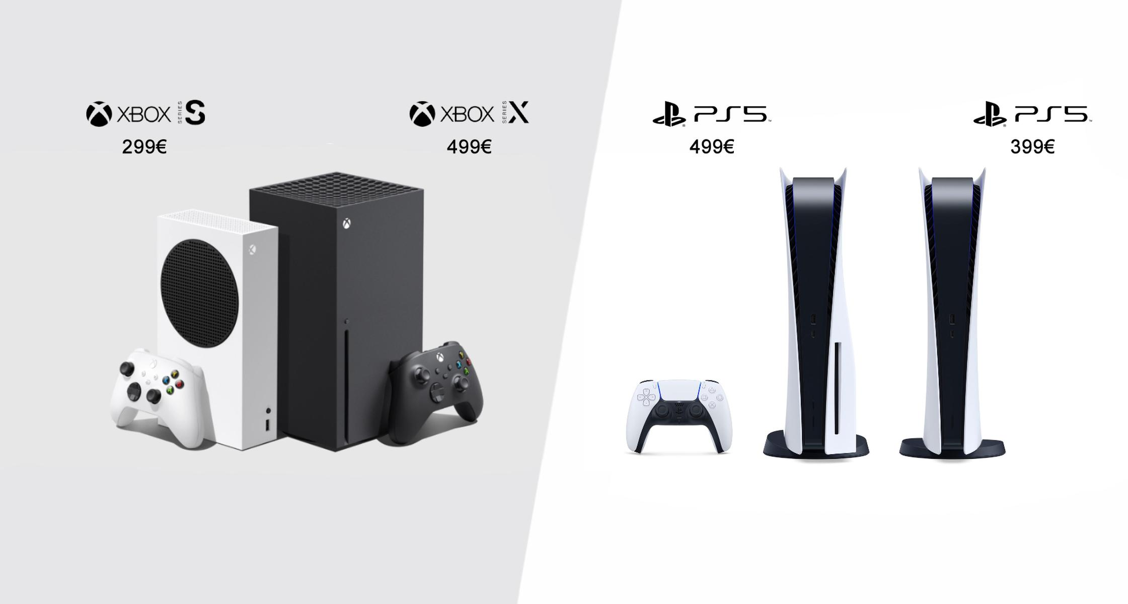 Xbox Series X vs PlayStation 5 Price