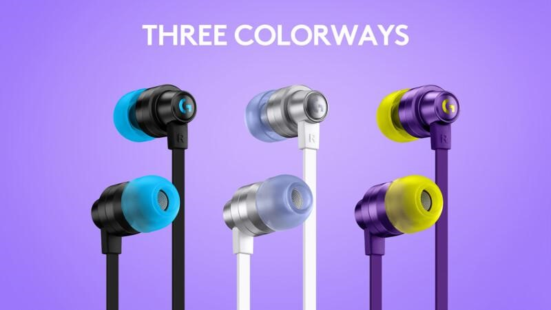 Logitech G333 Gaming Earphones Colors