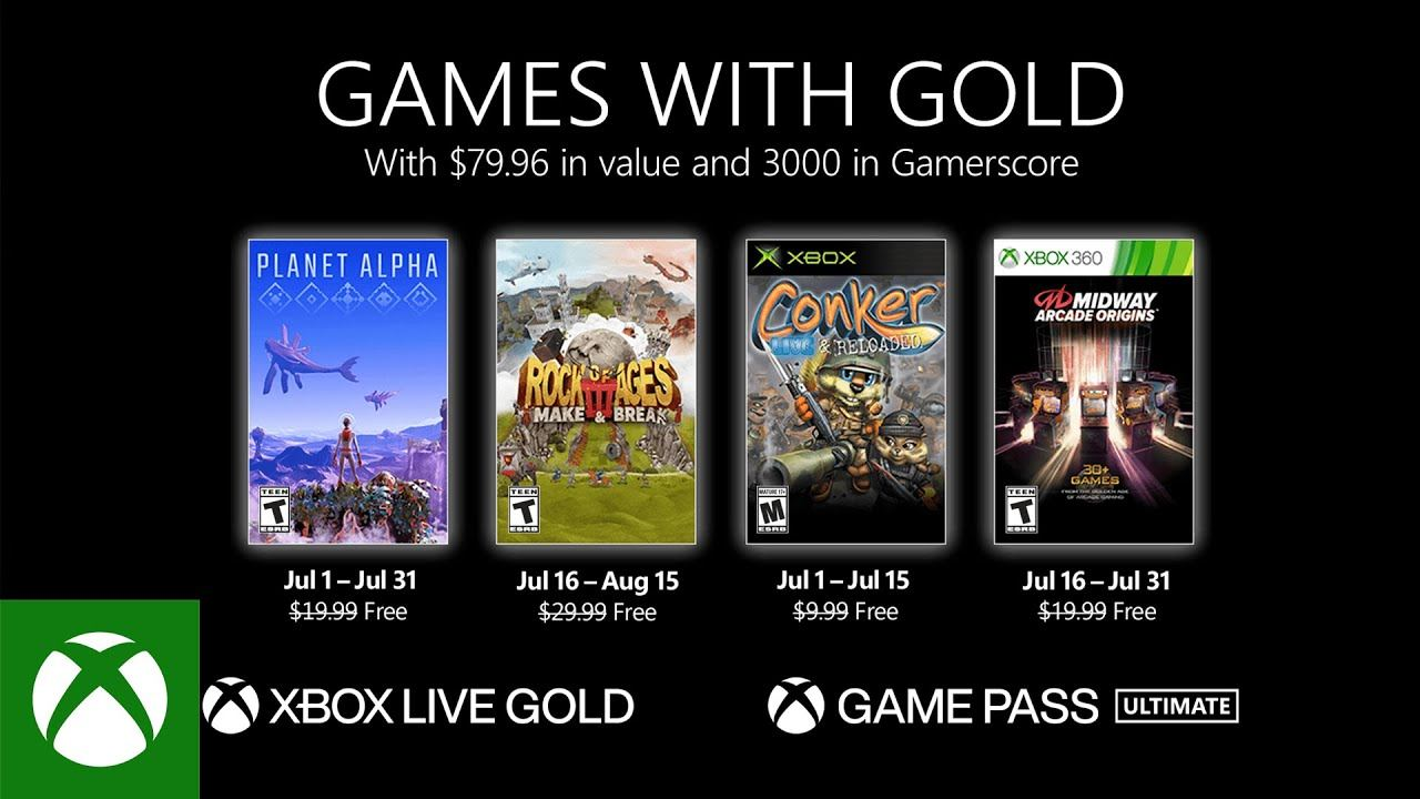 Games With Gold July 2021