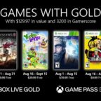Games With Gold hry August 2021