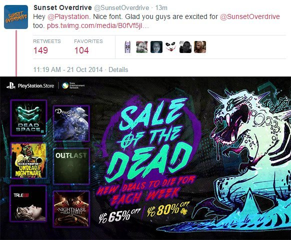 Sunset Overdrive Twitter